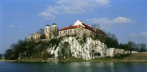Tyniec Abbey beyond the Vistula river