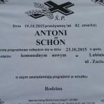 Schon, Antoni-pogrzeb